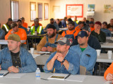L-374 members listen to a presentation by MOST instructors Ray Parrot and Jim Porter.