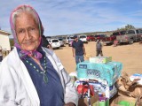 Each spring and fall Adopt-A-Native-Elder delivers boxes of food, clothing and simple medicines to many different areas of the Navajo reservation.