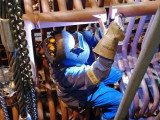 Hilary Peach travels out of Local 359 and often does confined space jobs in pulp mills. Here she welds tubes to a header. Photo courtesy of Gord Kappel.