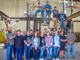 L-83 apprentices get 'in on the act,' build staircase for school play