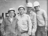 Father and sons on the job in the 1960s. Left to right: John Miskell, Don, Jerry and Jim.
