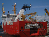 The Sir John Franklin is the first Coast Guard ship built at Seaspan. The ship will be delivered to the Coast Guard this summer, following sea trials.