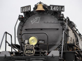 "The Union Pacific restored the Big Boy 4014 with its nine-person ""steam team."""