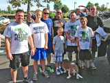 Pictured above, l. to r., are Barker, Reid Blakeman (son of Lee Blakeman, to Reid's left), Ed Hobbs, Javin Hobbs (son to Ed Hobbs), Abe Babcock, Brien Babcock (son to Abe Babcock) and Tim Timmons. Pictured but camera shy is Henry the Bassett Hound.