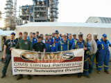 Boilermakers from across Canada and the United States use the CIMS process during the 2013 Suncor vacuum tower turn-around.