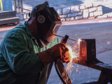 L-13's John Cawley competes in a past Boilermakers National Apprenticeship Program (BNAP) competition.