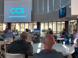 """Attendees view the Boilermakers commissioned film """"CCS: Bridge to a Cleaner Energy Future"""" to learn how CCUS works and why it is a vital climate-change solution that preserves jobs and the economy."""