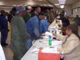 Members of Local 693 (Pascagoula, Miss.) cast their votes on a two-year contract extension with Northrop Grumman.