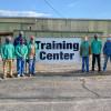 Con el instructor Bill Campbell (atrás), están (de izquierda a derecha) Joel Dragoo, L-502; Lakevious Welch, L-108; Tevin Wooden, L-455; Rodney Goodman L-455; Lake Snyder, L-2060; Gary Gladden, L-108; Tyler Johnson, L-374; Abbott Dempsey, L-108.