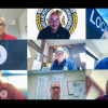 Participants log in from across the U.S. for new BM-ST training. On screen are: Top row l. to r., Mark Garrett, MOST Programs administrator; Darren Lindee, L-60; Tim Jefferies, L-549. Middle row, John Bland, L-13; Luke Lafley, L-242 and Tim Bradbury, L-37. Bottom row, Tom Ryan, L-5 Z-5; Bruce Forshee, L-667 and Heath Simmons, L-108.