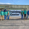 With Instructor Bill Campbell (back), are (l. to r.) Joel Dragoo, L-502; Lakevious Welch, L-108; Tevin Wooden, L-455; Rodney Goodman L-455; Lake Snyder, L-2060; Gary Gladden, L-108; Tyler Johnson, L-374; Abbott Dempsey, L-108.