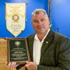 John Bland, BM-ST of Local 13, receives the John F. Erickson NACBE Safety Award on behalf of his lodge.