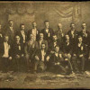 Delegates to a Chicago Group convention, year unknown. William Gilthorpe, future grand secretary-treasurer for the merged Brotherhood, is seated third from right; to his right is Andrew Keir, president of the Chicago Group.