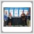 Celebrando la asociación entre GLABAP y el LCCC están, de izquierda a derecha, el coordinador de BNAP Mark Wertz, la presidenta de LCCC Marcia Ballinger, Ph.D, el coordinador de GLABAP Larry McManamon Jr. y el gerente de negocios-secretario/tesorero del L-744 Martin Mahon.